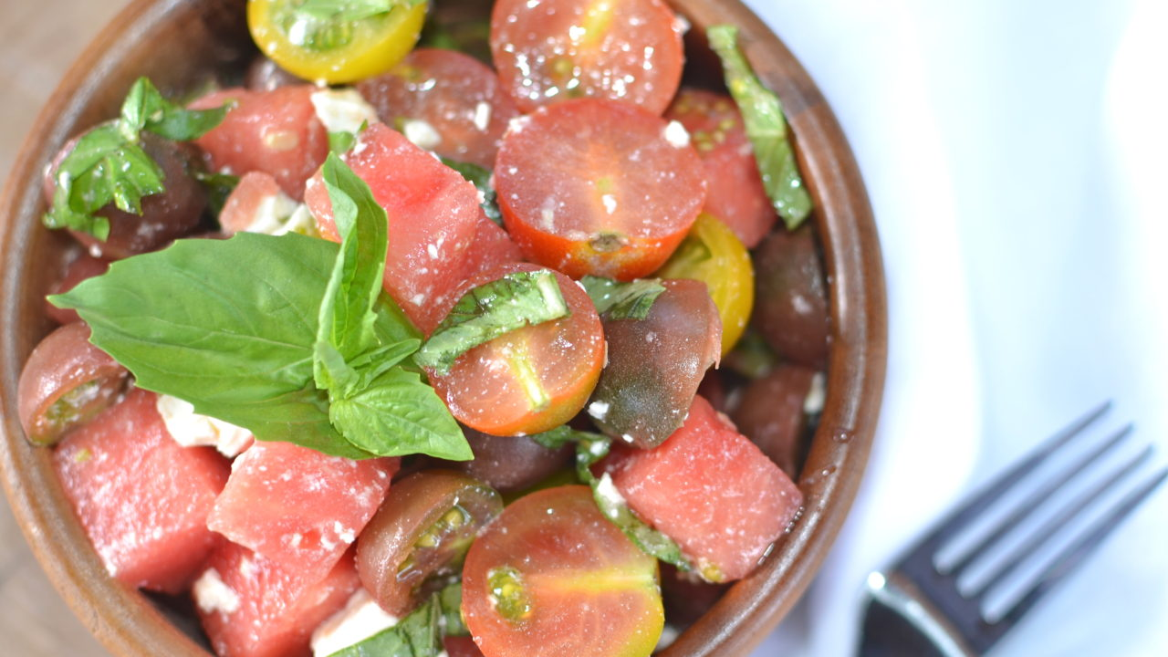 Heirloom Tomato, Watermelon, and Feta Salad-above final