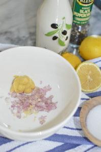 Lemon Shallot Vinagrett