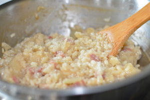 pancetta risotto- close up