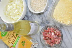 pancetta risotto- ingredients