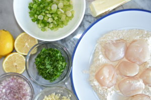 scallops provencal- above ingredients