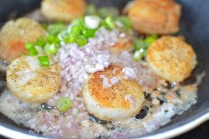 scallops provencal- adding herbs
