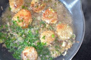 scallops provencal- bubbling scallops