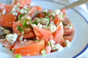 tomato salad- with blue cheese